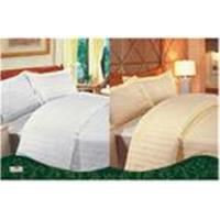 China White / Yellow Personalized 100 % Cotton Full Size Solid Color Dyed Hotel Bed Linen Sets on sale