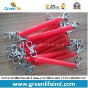 Quality Plastic Custom Color Size Red Spring Spiral Key Holder Lanyard for sale