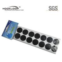 China Thick Black Hook And Loop Coins , Fire Retardant  Sticky Dots For Supermarket on sale