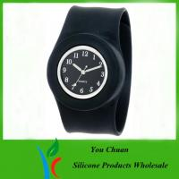 Quality Customized Waterproof Silicone Slap Watch With Janpanese Quartz / Digital Movement for sale