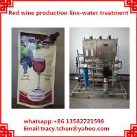 Quality red wine plastic bag filling and packing machine for sale