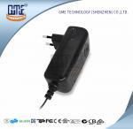 Quality CCTV Cameras EU Plug Power Adapter AC DC  Black 90V - 264V AC Input Voltage for sale