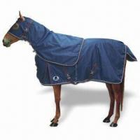 Quality Turnout Horse Blanket/Hood with Tail Flap, Double Surcingles and Leg Straps for sale