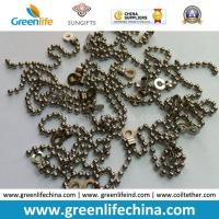 Quality Decorative 2.0mm Metal /Stainless Steel Bead Ball Badge Chain for sale