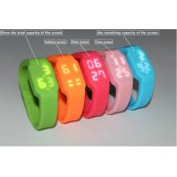 Quality LED Watch usb wristband memory stick with multifunction and customs colors for sale