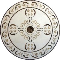 Quality Round Mosaic Marble Floor Medallions Polished Solid Surface Sgs Standard for sale