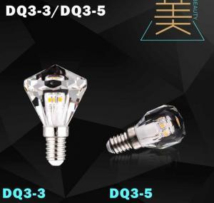 Quality diamond led bulb lamp crystal light candle bulb led for sale