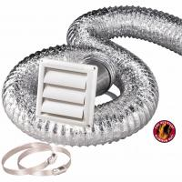 Quality HVAC Systems Parts Flexible Hose Kit 8 Ft 4 Inch Flexible Aluminum Duct / Vent Cover for sale