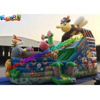 China Bee Commercial Inflatable Slide With Full Printing , inflatable slip and slide on sale