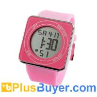 Quality Multi-function Luminous Touch LCD Screen LED Watch - Pink for sale