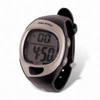Quality LCD Talking Watch with Alarm, Available in Various Colors for sale