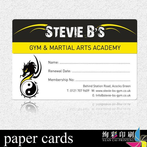 Printing Membership Cards Paper Custom Paper Membership Card