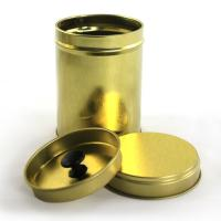 Quality Round Tea Tin Container with Double Cover for sale