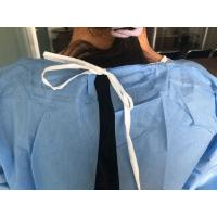 Quality Long Sleeve Medical Isolation Gowns / Blue Isolation Gowns Sterile Or Non Sterile for sale