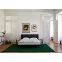 Quality Fabric Upholstered Modern Frame Bed , Oak Wood Bedroom Use Double Size Bed for sale