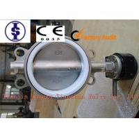 """Quality Double Shaft Corrosion Resistant Valves / PTFE Lined Water Butterfly Valve 2"""" 3"""" 5"""" for sale"""