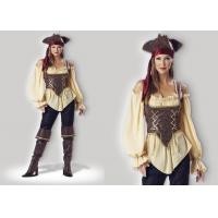 Quality Rustic Pirate Lady 1024  Halloween Adult Costumes Brown Yellow Red Mixed Color for sale