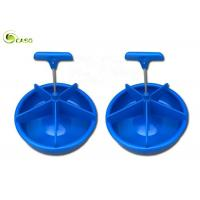 Buy cheap Plastic Handle PP Pig Feeding Trough Round Plastic Piglets Livestock Water Bowl from wholesalers