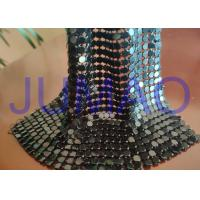 Quality Black Slices Metal Sequin Fabric , 4 Mm * 4 Mm Common Areas Metal Flake Fabric for sale