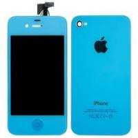 Quality Mobile Phone Apple Iphone 4G OEM Parts , Blue Front Cover for sale