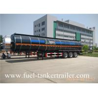 Carbon steel 3 axles large capacity fuel / oil / diesel tanker