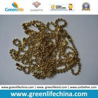 Quality Fashionable Hot Selling Shinny Golden Metal Snake Ball Chain for sale
