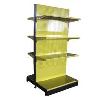Quality Yellow Double Sided Gondola Shelving   ,  Pegboard Grocery Display Racks 4 Levels for sale