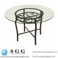 Quality Excellence quality round,oval,square,rectangle shape tempered furniture glass top for sale