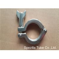 TP304 ASTM A270 Sanitary Valves And Fittings Stainless Steel Single Pin Heavy Duty Clamp
