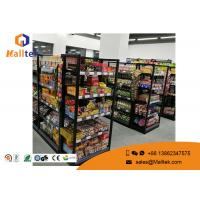 Grocery Customized Shop Display Fittings Rust Resistance Black Gondola Shelving