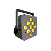 Quality LED Flat Par 9*18W RGBWA+UV 6in1 stage uplights dj equipment powered wireless LED stage light for sale