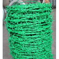 Quality Plastic Coated 0.6mm Galvanized Iron Barbed Wire Double Twist For Industry for sale
