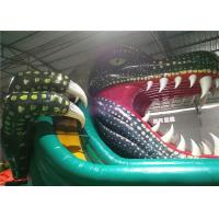 China Lake Inflatable Water Pool Slide , Kids Inflatable Slides Air Sealed Long Distance on sale