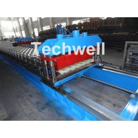 High Speed Metal Tile Cold Roll Forming Machine With Servo Flying Cutting Type