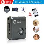 Quality Coin size bike gps tracker car sos button real-time alarm reachfar rf-v8s for sale