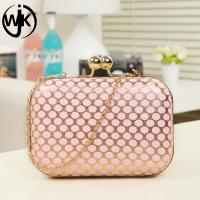Quality new arrivals cheap wholesale China women sling shoulder top quality leather clutch bag with chains for sale