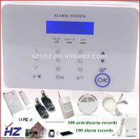 Best Magnetic doors and windows sensor PSTN GSM security alarm system used in the home wholesale