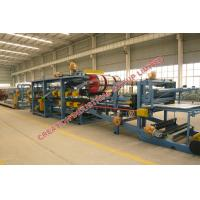 Quality Colored Steel Sheet / EPS Sandwich Panel Production Line With PLC Control for sale