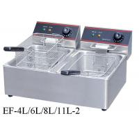 Buy cheap Table Top Restaurant Cooking Equipment , Single / Double Tank Electric Fryer from wholesalers