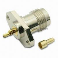 Quality TNC Straight Panel Mount Jack RF Coaxial Connector for Mini Coaxial Cable with 2 Holes, 50 Ohms for sale