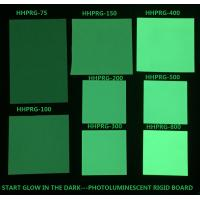 Quality Glow in the dark rigid board Photoluminescent rigid PVC sheet HHPRG-series used in safety sign for sale