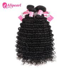 Quality 3 Pcs Brazilian Human Hair Bundles Deep Wave , Brazilian Remy Hair Extensions for sale