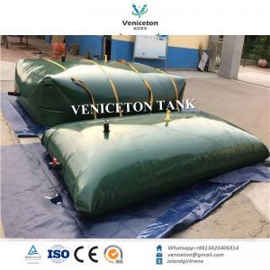 China PVC tarpaulin flexible water storage bladder tank collapsible pillow water tank for water storage on sale