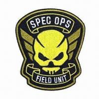 Best Embroidered Emblem/Patch, Made of Polyester and Twill wholesale