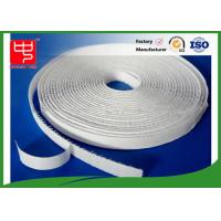 China White Sticky On Hook & Loop Tape Self Adhesive / Custom Hook And Loop Fasteners on sale