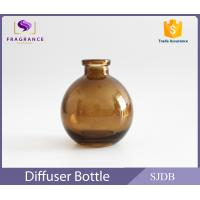 Best Aromatic Reed Diffuser Glass Bottle 200ml Flat Round Colored Thin Neck wholesale