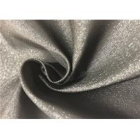 Quality Black Fiber PVC Backed Polyester Fabric Durable Resistant To Bleach / Oxidants for sale