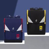 Quality NHB210 new arrival primary school superman children backpack ridge reduction bag for sale