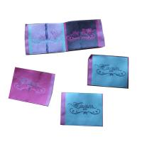 China Durable Woven Neck Labels for lady clothing personized size color shrink proof on sale