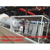 Best Factory direct sale best price 25m3 mobile skid lpg tank with digital scales, skid lpg gas plant with 4 digital scales wholesale